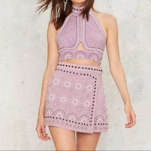 Nasty Gal Sisters of the Moon embellished skirt